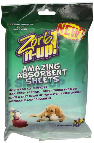 URINE OFF - Zorb-It-Up! Amazing Absorment Sheets for Pet Odor