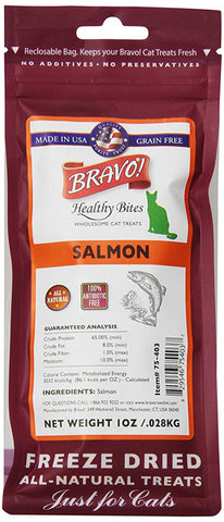 BRAVO - Healthy Bites Salmon Food for Cats