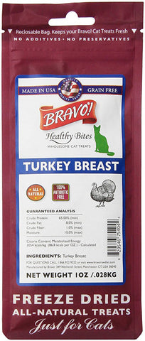 BRAVO - Healthy Bites Turkey Bre-Assistance for Cats
