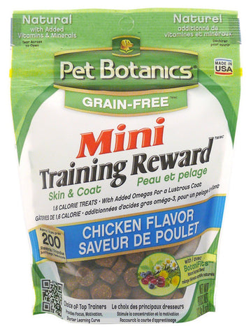 PET BOTANICS - Mini Training Reward Chicken Flavor Dog Treats Grain Free