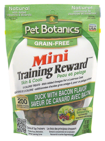 PET BOTANICS - Mini Training Reward Duck & Bacon Flavor Dog Treats