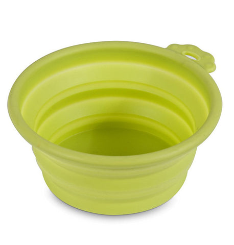 PETMATE - Silicone Round Travel Bowl Go-Go Green