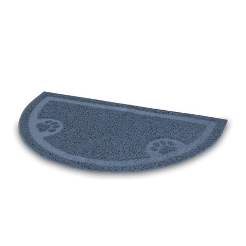 PETMATE - Litter Catcher Mat 1/2 Circle Ice Blue Large