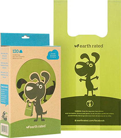 EARTH RATED - Dog Waste Bags with Easy-tie Handles Unscented