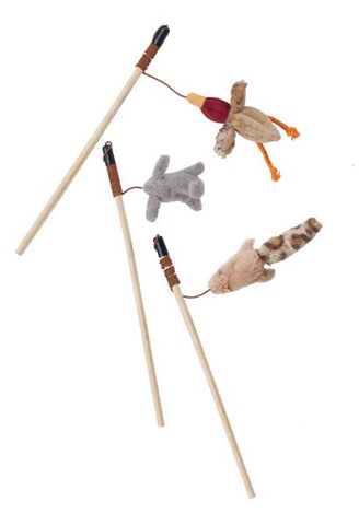 SKINNEEEZ - Forest Friends Teaser Wand Cat Toy Assorted