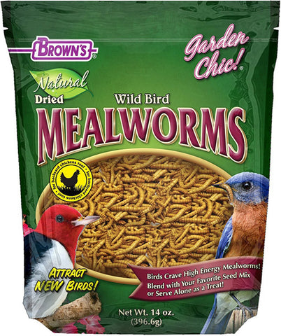 F.M. BROWN'S - Garden Chic! Natural Wild Bird Food Dried Mealworms