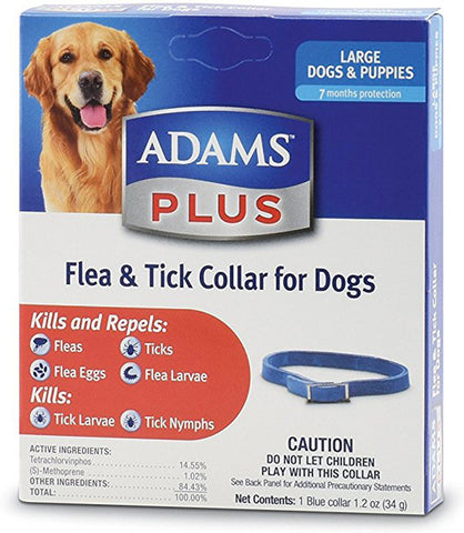 ADAMS PLUS - Flea and Tick Collar for Large Dogs