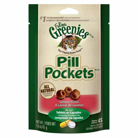 GREENIES - Pill Pockets Cat Treats Salmon Flavor