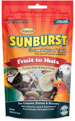 SUNBURST - Fruits to Nuts Gourmet Treats for Conures, Parrots & Macaws
