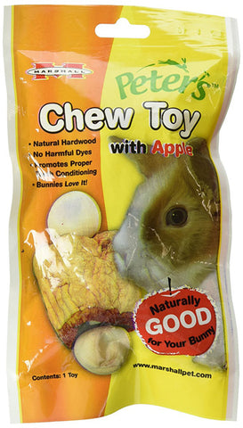 PETERS - Rabbit Chew Toy with Apple Small