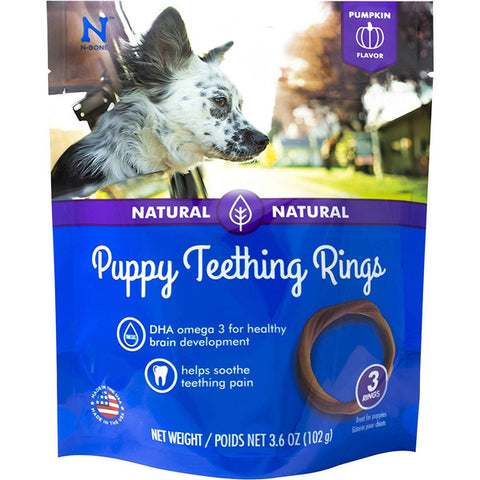 N-BONE - Puppy Teething Ring Pumpkin Flavor