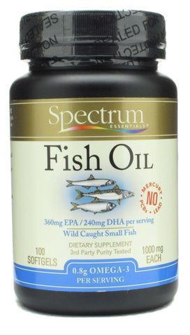 Spectrum Organic Fish Oil 1000mg