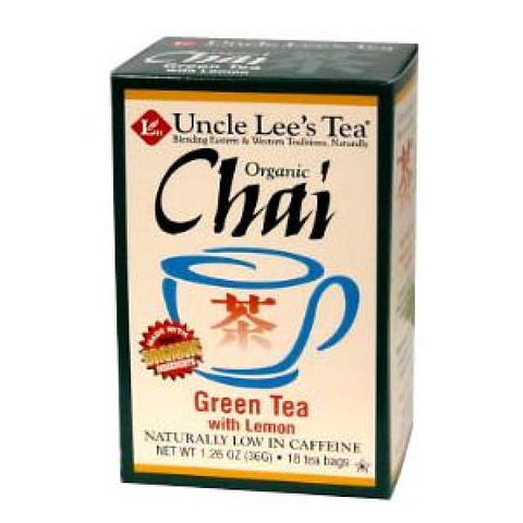 UNCLE LEE'S TEA - Organic Chai Green Tea with Lemon
