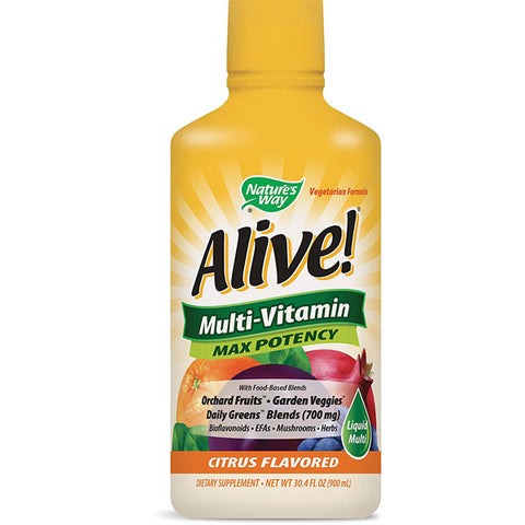 NATURES WAY - Alive! Max Potency Multi-Vitamin Citrus Flavor Liquid