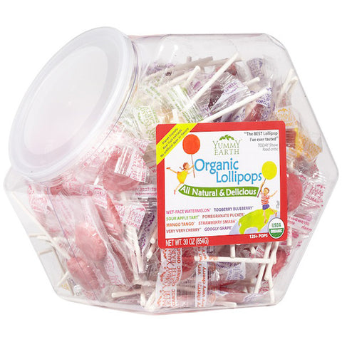 Yummy Earth Counter Bin Organic Lollipops