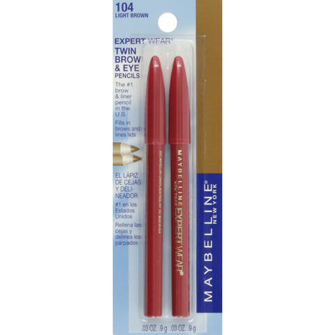 MAYBELLINE - Expert Wear Twin Brow and Eye Pencils 104 Light Brown