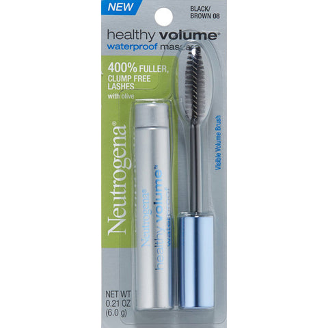 NEUTROGENA - Healthy Volume Waterproof Mascara #08 Black/Brown
