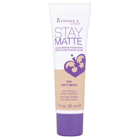 RIMMEL - Stay Matte Liquid Mousse Foundation #200 Soft Beige