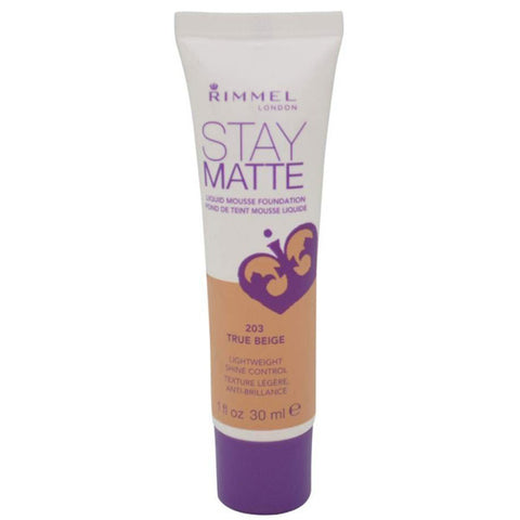 RIMMEL - Stay Matte Liquid Mousse Foundation #203 True Beige