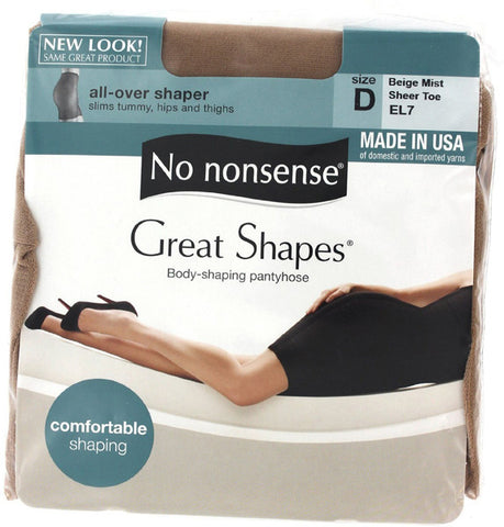 NO NONSENSE - Body Shaping Pantyhose Beige Mist Size D