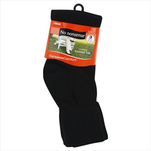 NO NONSENSE - Women's Cotton Basic Cuff Sock Black