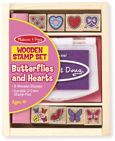 MELISSA & DOUG - Butterfly & Heart Stamp Set