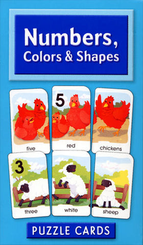 SCHOOL ZONE - Numbers, Colors and Shapes Puzzle Cards