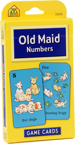 SCHOOL ZONE - Old Maid Numbers Game Cards