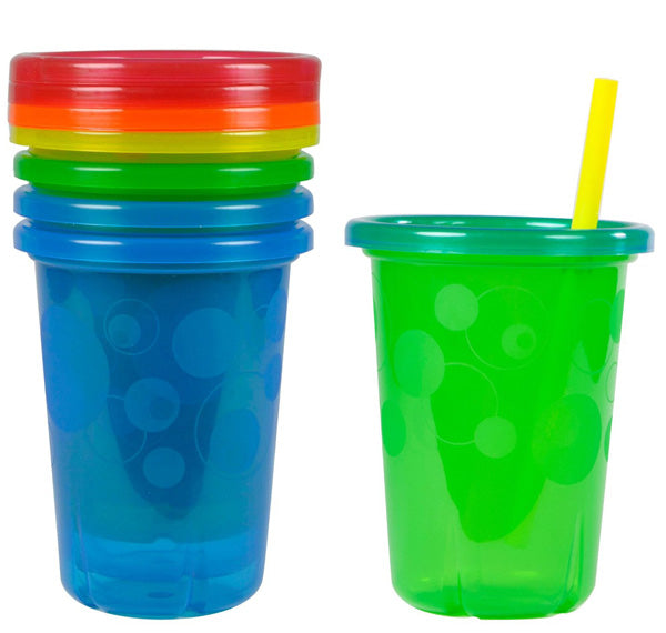 THE FIRST YEARS - Take & Toss Spill-Proof Straw Cups 10 oz.