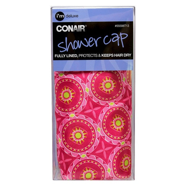 CONAIR - Deluxe Printed Satin Shower Cap