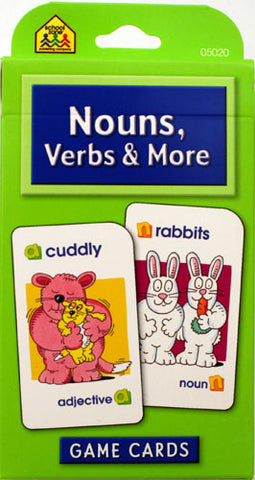 SCHOOL ZONE - Nouns, Verbs & More Game Cards