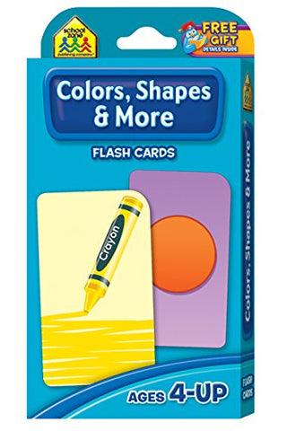 SCHOOL ZONE - Colors, Shapes and More Flash Cards