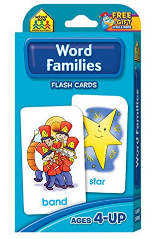 SCHOOL ZONE - Word Families Flash Cards