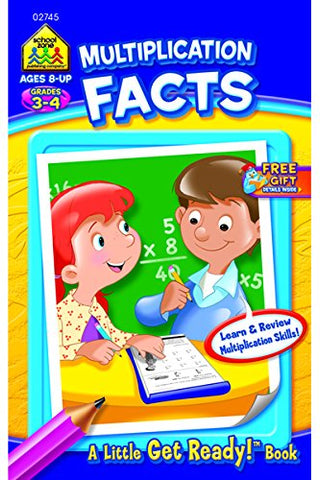SCHOOL ZONE - Multiplication Facts Little Get Ready! Book