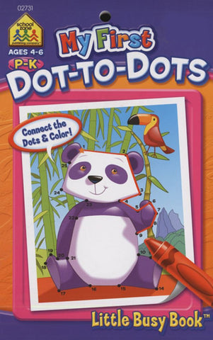 SCHOOL ZONE - My First Dot-to-Dots Little Busy Book