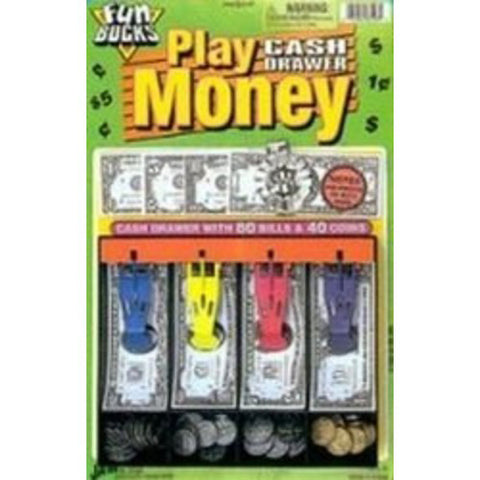 "JA-RU - Play Money Cash Drawer 8.5"" x 13"""