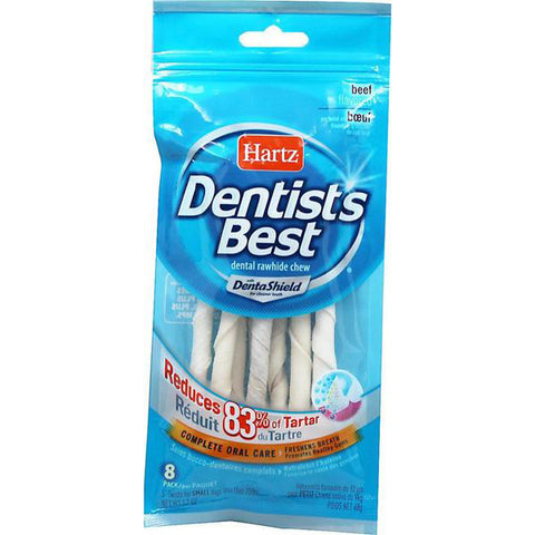 "HARTZ - Dentist's Best with DentaShield 5"" Rawhide Twist Dog Treat"