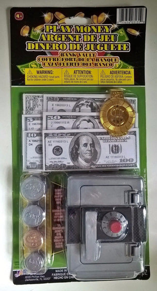"JA-RU - Play Money and Bank Vault 4-4 6"" x 12"""