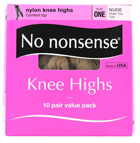 NO NONSENSE - Knee Highs Sheer Toe Size One Nude