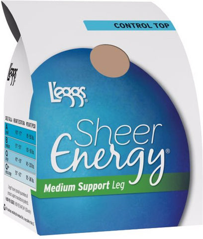 L'EGGS - Sheer Energy Control Top Jet Black Size B