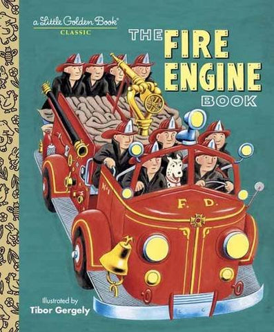 GOLDEN BOOKS - The Fire Engine Book