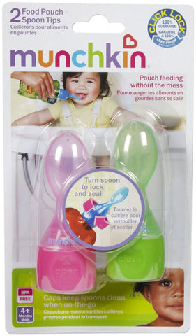 MUNCHKIN - Click Lock Food Pouch Spoon Tips Girl