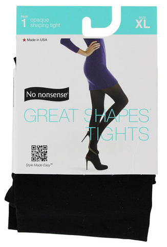 NO NONSENSE - Great Shapes Opaque Shaping Tight Black X-Large