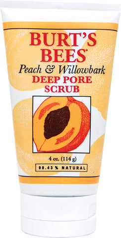 BURT'S BEES - Deep Pore Scrub Peach and Willowbark