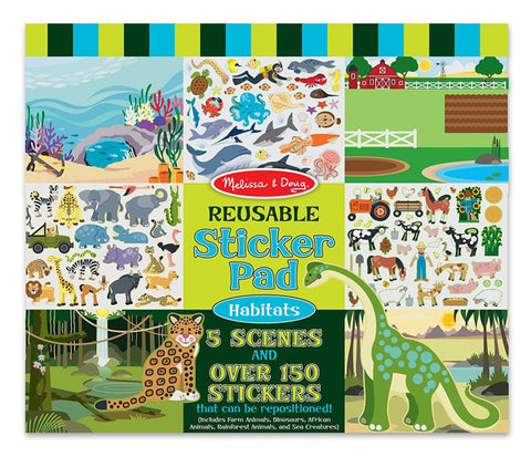 MELISSA & DOUG - Reusable Sticker Pad Habitats