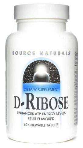 Source Naturals D Ribose 3 g Fruit Chewable
