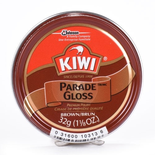 KIWI - Brown Gloss Premium Shoe Polish with Silicone