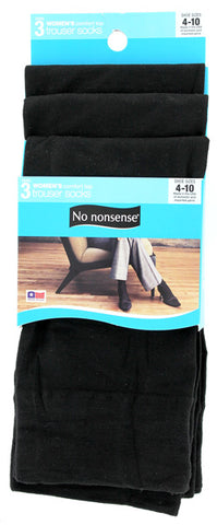 NO NONSENSE - Silky Trouser Socks Black Sizes 4-10