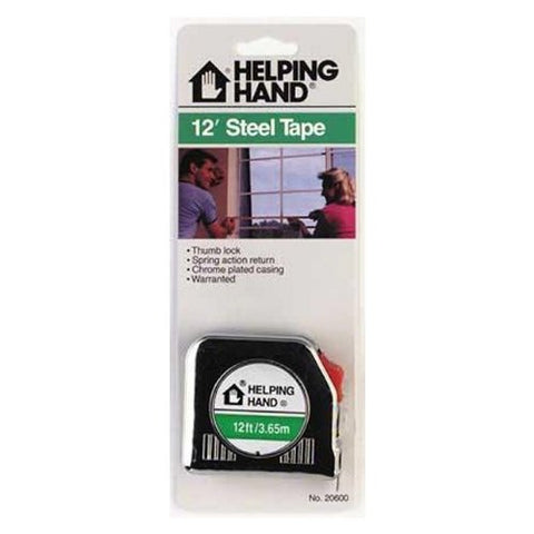 HELPING HAND - 12' Steel Tape Measure