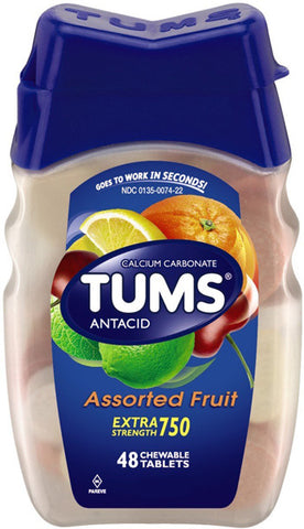 TUMS - Extra Strength 750 Antacid/Calcium Supplement Assorted Fruit